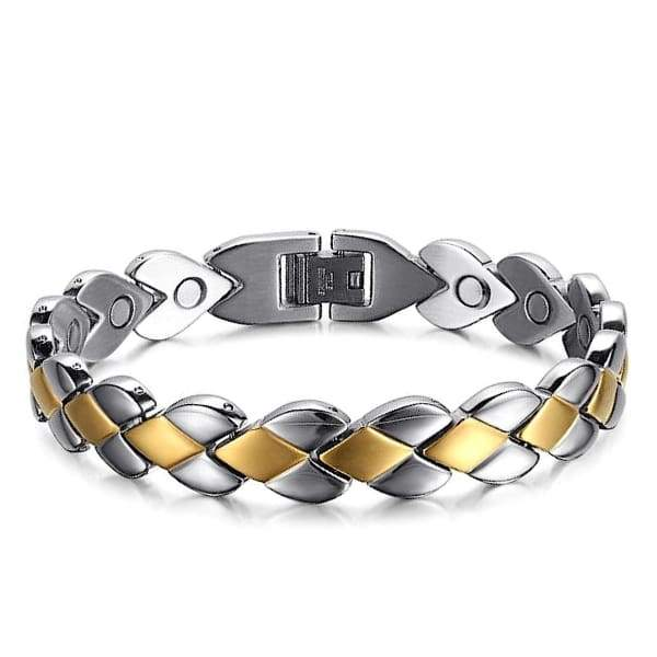 Auryaspower 101 Silver Gold / All Magnetic Bracelet / Women Magnetic Bracelet