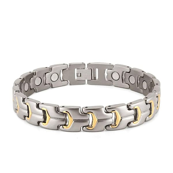 Bracelet 10200 Silver Gold - Men / Bio Full Magnetic Balance