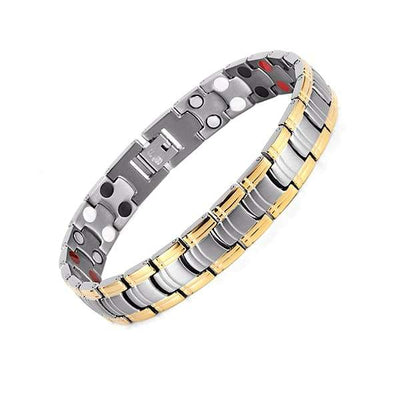 Auryaspower 1110 Silver Gold / 4 In 1 Magnetic Bracelet / Men Magnetic Bracelet