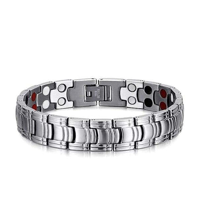 Auryaspower 1110 Silver / 4 In 1 Magnetic Bracelet / Men Magnetic Bracelet