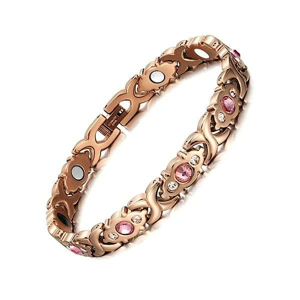 Auryaspower 201 Gold Rose / 4 In 1 Magnetic Bracelet / Women Magnetic Bracelet
