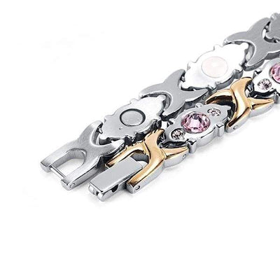Auryaspower 201 Silver Gold / 4 In 1 Magnetic Bracelet / Women Magnetic Bracelet