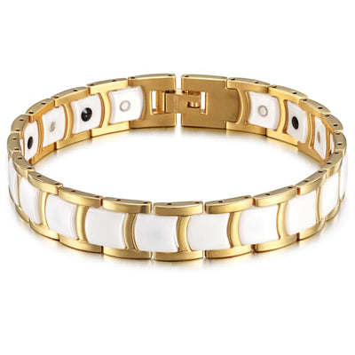 Bracelet 20800 White Gold - Women / Bio Full Magnetic Balance magnetic jewerly
