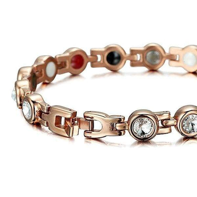Auryaspower 210 Rose Gold / 4 In 1 Magnetic Bracelet / Women Magnetic Bracelet