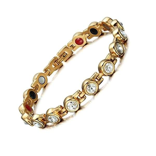 Bracelet 210 Gold - Women / Bio Magnets Balance 4® Magnetic Bracelet