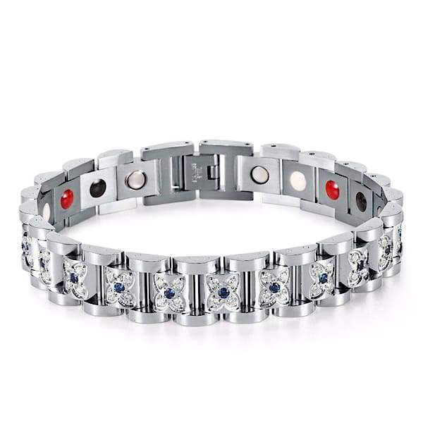 Auryaspower 220 Silver / 4 In 1 Magnetic Bracelet / Women Magnetic Bracelet