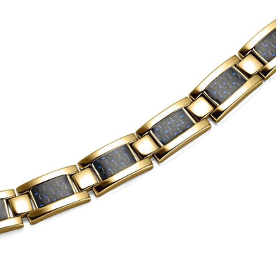 Bracelet 2220 Gold Blue - Men / Bio Magnetic Balance 4® magnetic jewerly
