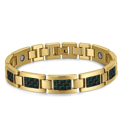 Bracelet 2220 Gold Green - Men / Bio Magnetic Balance 4® magnetic jewerly