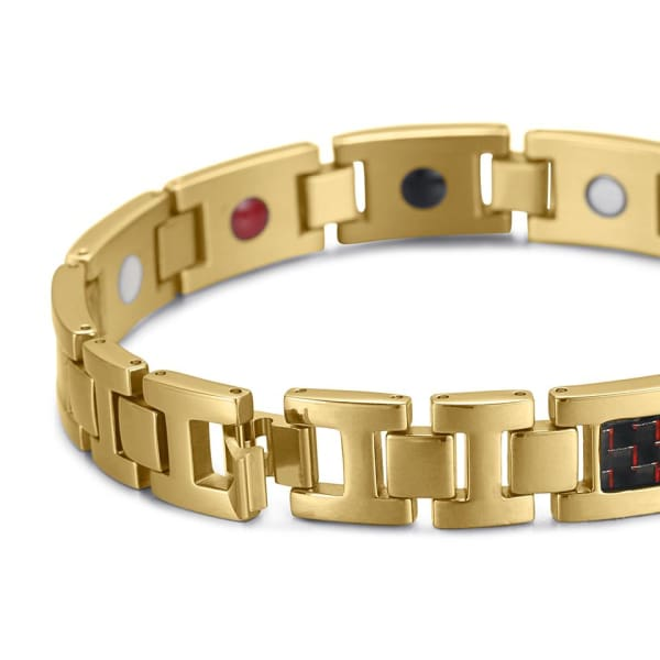Bracelet 2220 Gold Red - Men / Bio Magnetic Balance 4® magnetic jewerly