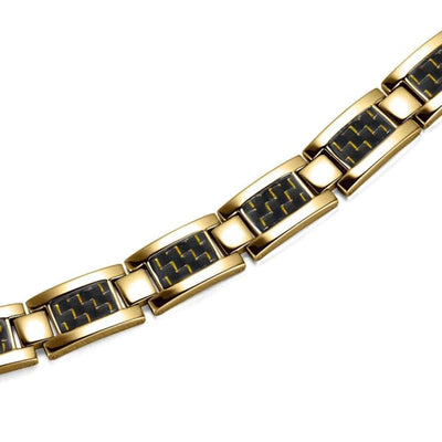 Bracelet 2220 Gold Yellow - Men / Bio Magnetic Balance 4® magnetic jewerly