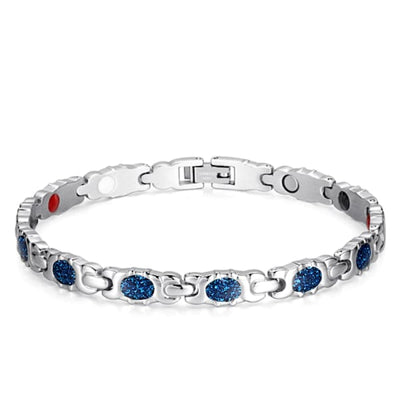Bracelet 230 Silver Blue - Women / Bio Magnetic Balance 4® magnetic jewerly