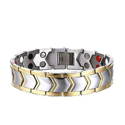 Auryaspower 3003 Silver Gold / 4 In 1 Magnetic Bracelet / Men 3003 Silver Gold Magnetic Bracelet