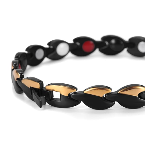 Bracelet 360 Gold Black - Women / Bio Magnetic Balance 4® magnetic jewerly