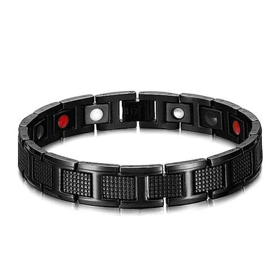 Auryaspower 4001 Black / 4 In 1 Magnetic Bracelet / Men 4001 Black Magnetic Bracelet