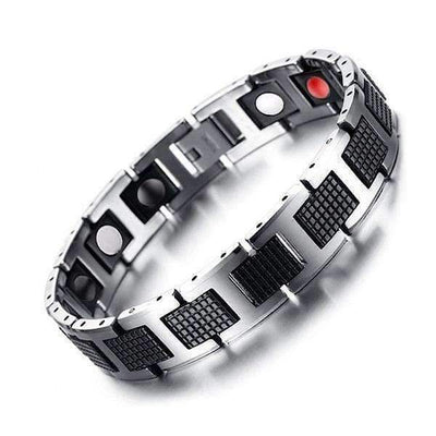 Auryaspower 4001 Silver Black / 4 In 1 Magnetic Bracelet / Men Magnetic Bracelet