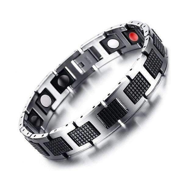 Bracelet 4001 Silver Black - Men / Bio Magnetic Balance 4®
