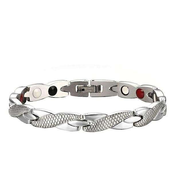 Auryaspower 501 Silver / 4 In 1 Magnetic Bracelet / Women Magnetic Bracelet