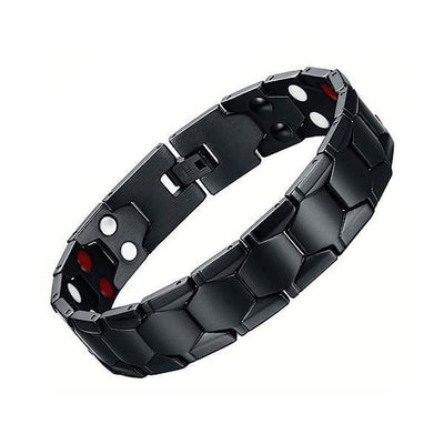 Auryaspower 6001 Black / 4 In 1 Magnetic Bracelet / Men Magnetic Bracelet