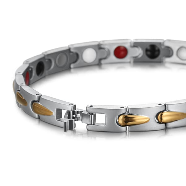 Bracelet 605 Silver Gold - Women / Bio Magnetic Balance 4® magnetic jewerly