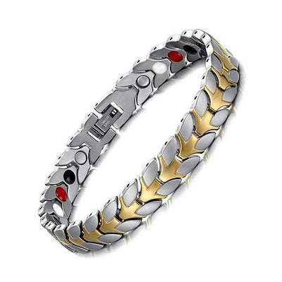Auryaspower 610 Silver Gold / 4 In 1 Magnetic Bracelet / Women Magnetic Bracelet