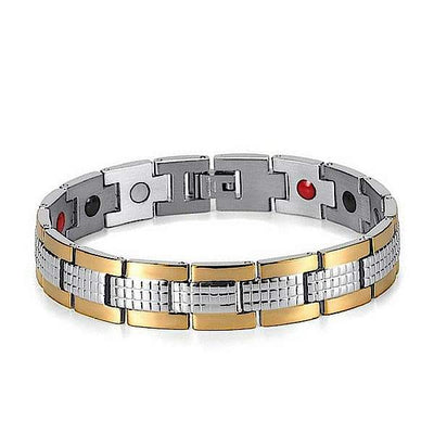 Auryaspower 7001 Silver Gold / 4 In 1 Magnetic Bracelet / Men Magnetic Bracelet