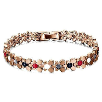 Auryaspower 701 Gold Rose / 4 In 1 Magnetic Bracelet / Women Magnetic Bracelet