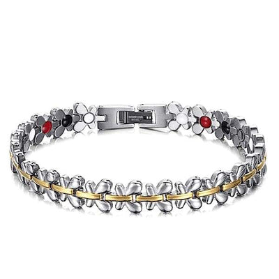 Auryaspower 701 Silver Gold / 4 In 1 Magnetic Bracelet / Women Magnetic Bracelet