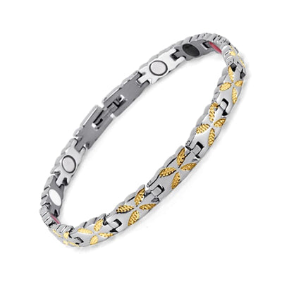 Bracelet 730 Silver Gold - Women / Bio Magnetic Balance 4® magnetic jewerly
