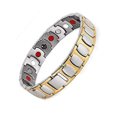 Auryaspower 8001 Silver Gold / 4 In 1 Magnetic Bracelet / Men Magnetic Bracelet