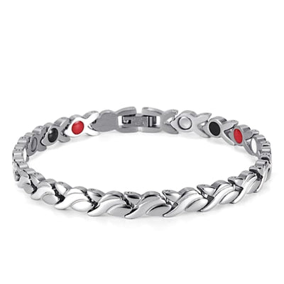 Bracelet 801 Silver - Women / Bio Magnetic Balance 4® magnetic jewerly