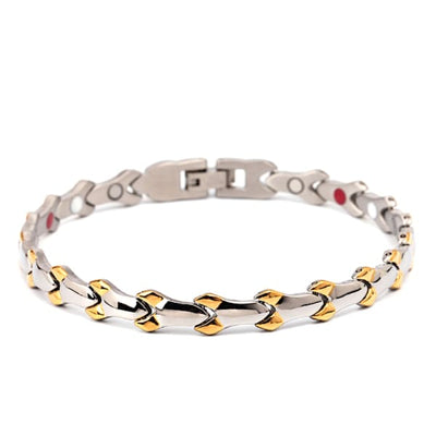Bracelet 830 Silver Gold - Women / Bio Magnetic Balance 4® magnetic jewerly