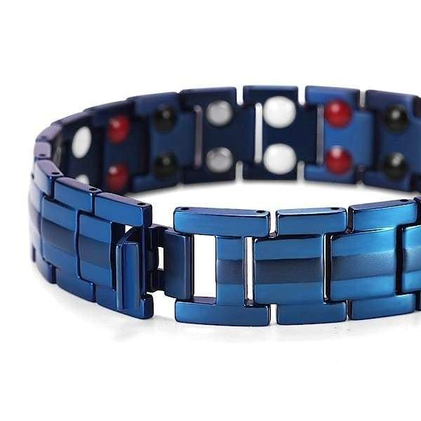 Auryaspower 9009 Blue / 4 In 1 Magnetic Bracelet / Men Magnetic Bracelet