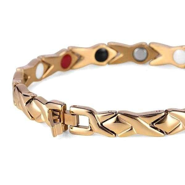 Auryaspower 910 Gold / 4 In 1 Magnetic Bracelet / Women Magnetic Bracelet