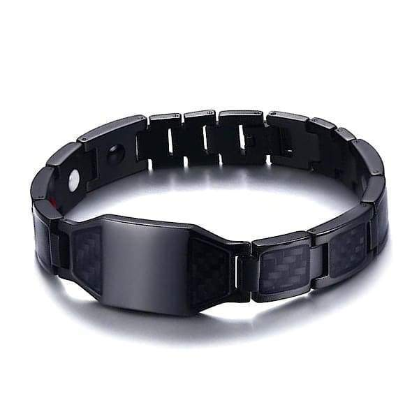 Bracelet Carbon Fiber 1007 Black - Men / Bio Magnetic Balance 4®