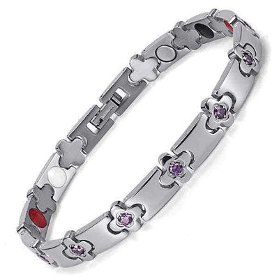 Auryaspower 160 Silver / 4 In 1 Magnetic Bracelet / Women Magnetic Bracelet
