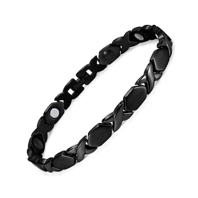 Bracelet-Titanium 340 Black - Women / Bio Magnetic Balance 4® Fashion Jewerly