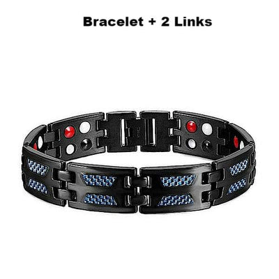 Auryaspower Titanium 5005 Blue / 4 In 1 Magnetic Bracelet / Men 5005 Blue + 2 Links Magnetic Bracelet
