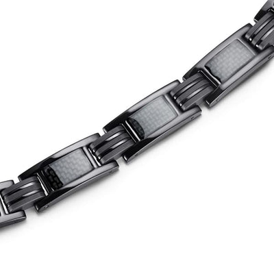Bracelet - Titanium 7007 Black - Men / Bio Magnetic Balance 4® magnetic jewerly