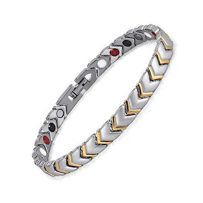 Auryaspower 901 Silver Gold / 4 In 1 Magnetic Bracelet / Women Magnetic Bracelet