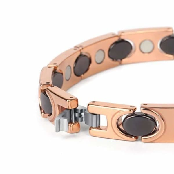 Bracelet -Tungsten Ceramic 30900 Gold Rose - Men / Bio Full Magnetic Balance Magnetic Bracelet