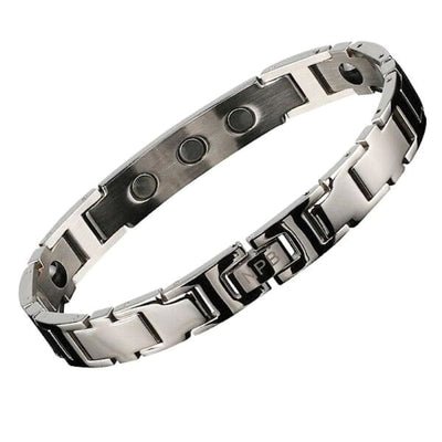 Ion Balance Magnetic Bracelet - Men & Women- 2400 Ions Silver- SUN 1500 Magnetic Bracelet