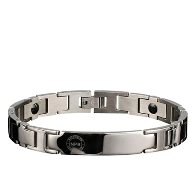 Ion Balance Magnetic Bracelet - Men & Women- 2400 Ions Silver- SUN 1500 Men Magnetic Bracelet