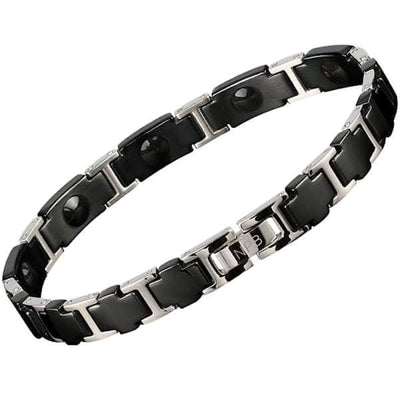 Ion Balance Magnetic Bracelet - Women- Black Silver - BOSS 3000 Magnetic Bracelet