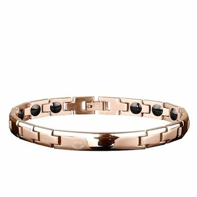 Ion Balance Magnetic Bracelet - Women & Men - 2400 Ions Gold Rose - SUN 1500 Women Magnetic Bracelet