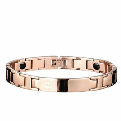 Ion Balance Magnetic Bracelet - Women & Men - 2400 Ions Gold Rose - SUN 1500 Men Magnetic Bracelet
