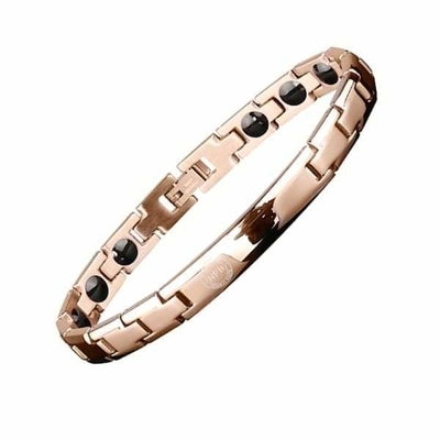 Ion Balance Magnetic Bracelet - Women & Men - 2400 Ions Gold Rose - SUN 1500 Magnetic Bracelet