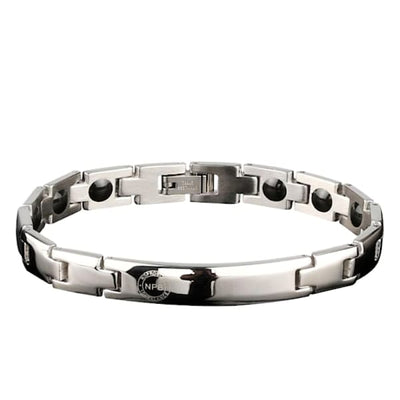 Ion Balance Magnetic Bracelet - Women & Men- 2400 Ions Silver- SUN 1500 Magnetic Bracelet