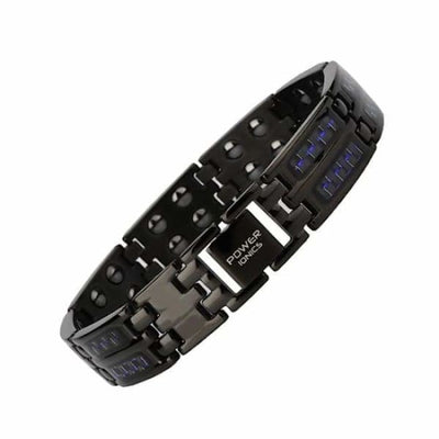 Ion Balance Titanium Magnetic Bracelet - Men - PI CARBON 3500 - Black-Blue Magnetic Bracelet