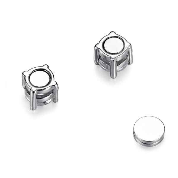 Magnetic Earrings - 22301 Rose - (Intestinal balance promoting magnetic earrings) magnetic jewerly