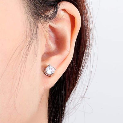 Magnetic Earrings - 22301 White - (Intestinal balance promoting magnetic earrings) magnetic jewerly